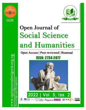 OJSSH - Open Journal of Social Science and Humanities