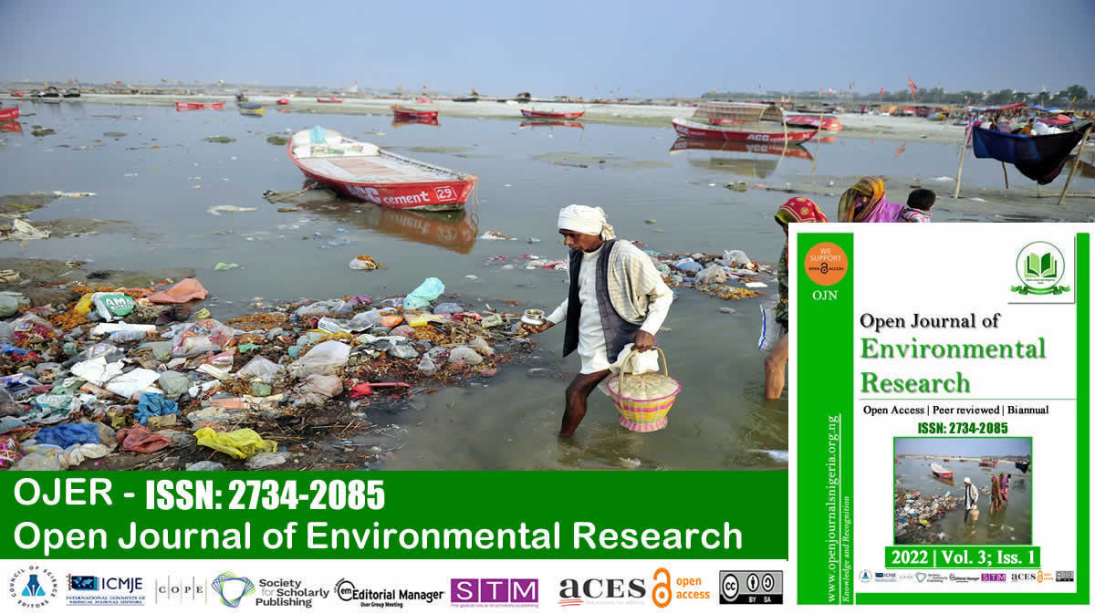 Open Journal of Environmental Research <br> (ISSN: 2734-2085)