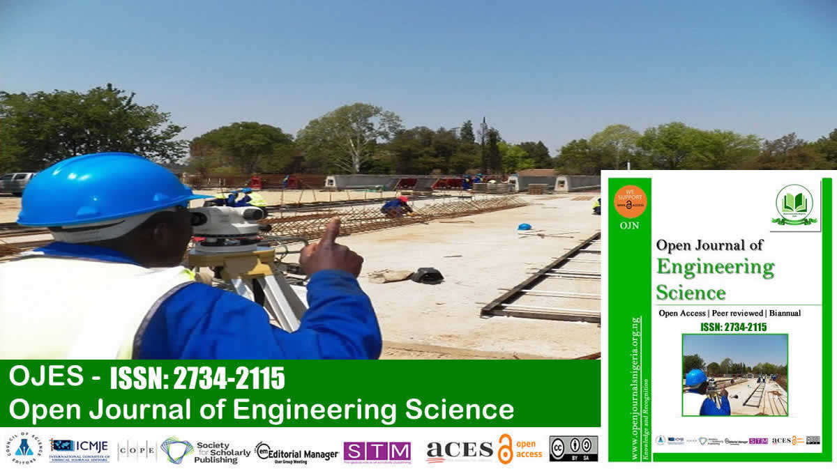 Open Journal of Engineering Science <br> (ISSN: 2734-2115)