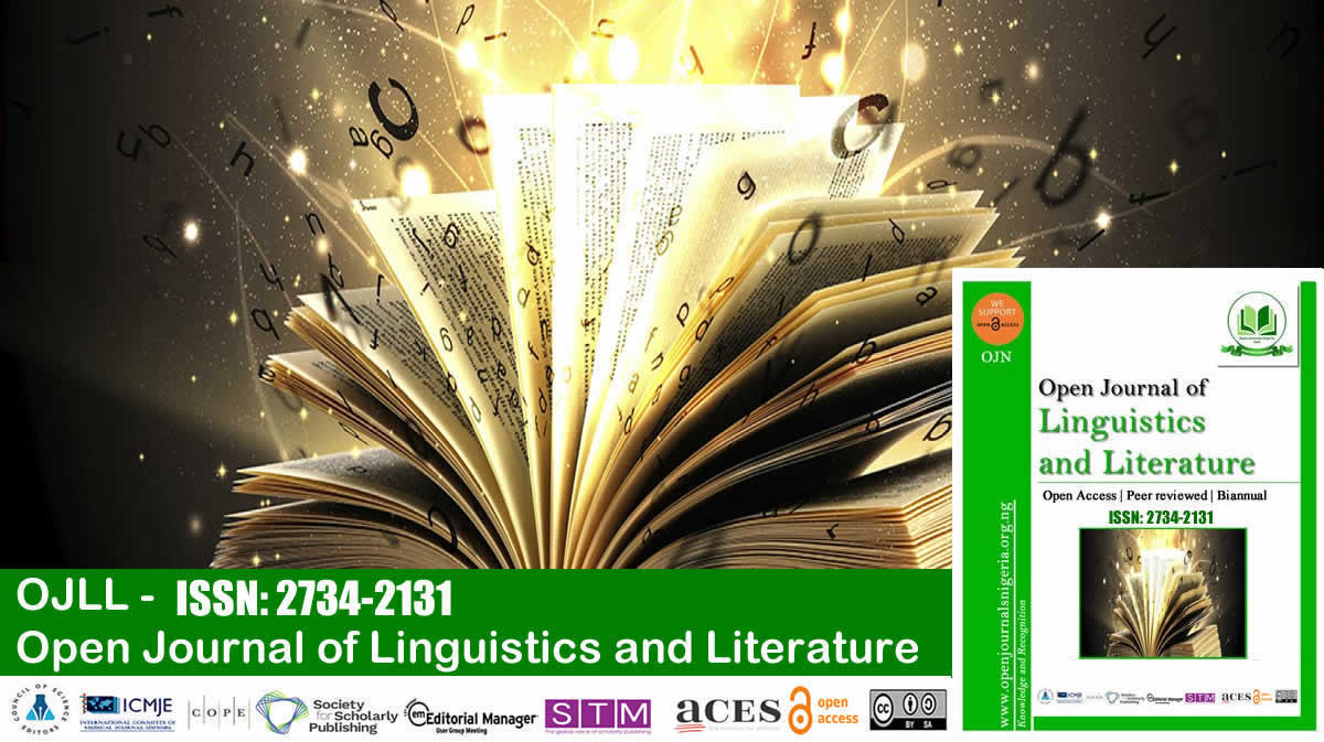 Open Journal of Linguistics and Literature <br> (ISSN: 2734-2131)