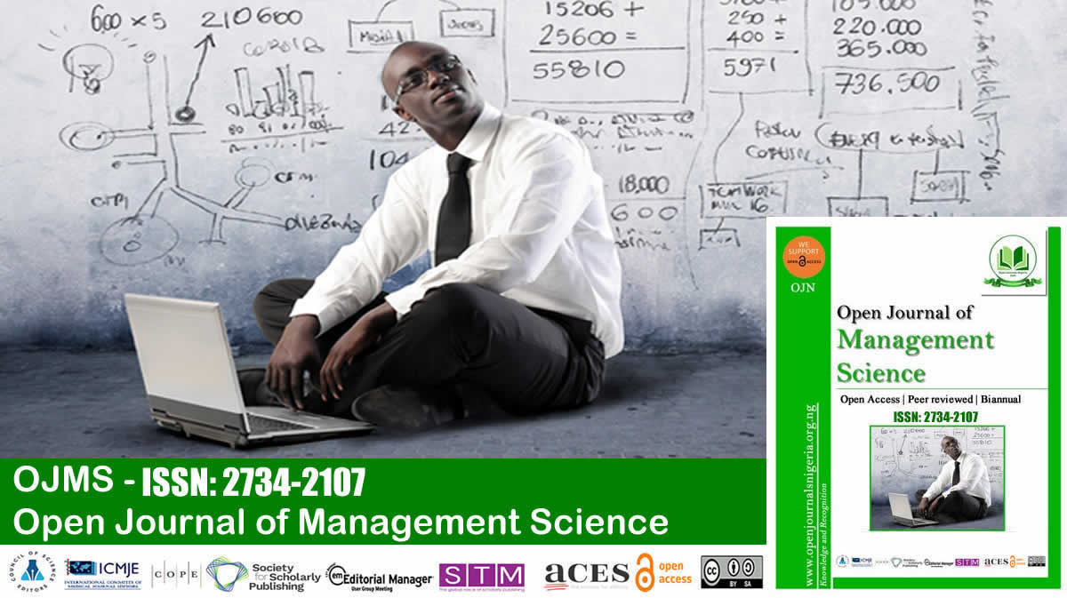 Open Journal of Management Science <br> (ISSN: 2734-2107)