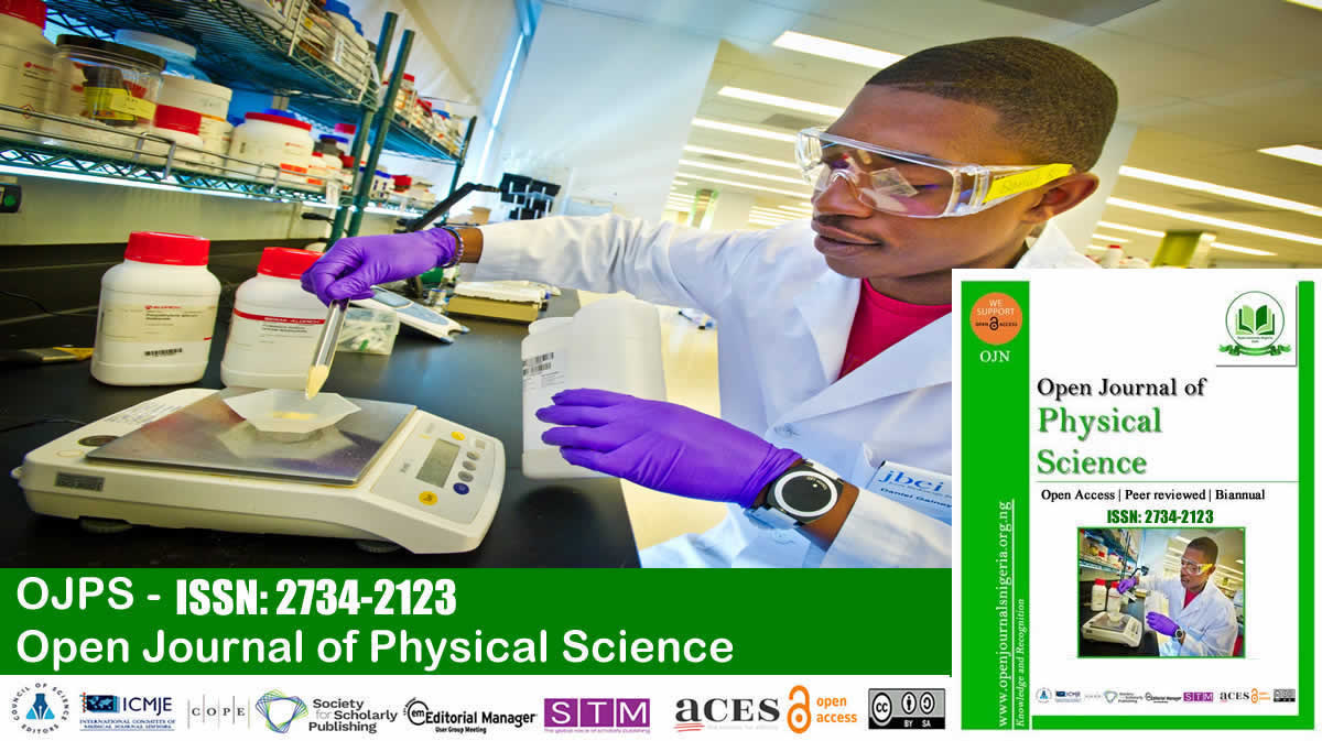 Open Journal of Physical Science <br> (ISSN: 2734-2123)