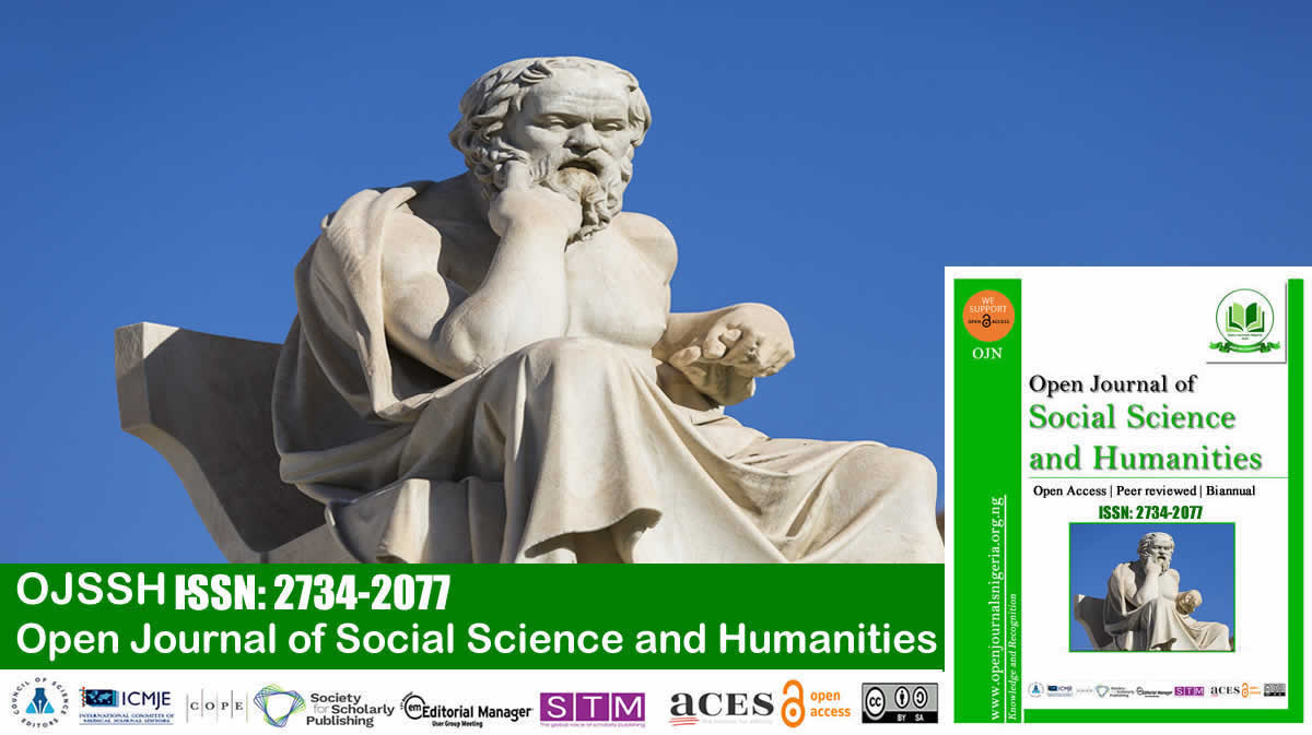 Open Journal of Social Science and Humanities