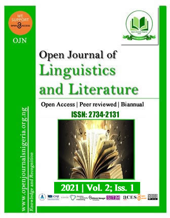 Open Journal of Linguistics and Literature (OJLL)